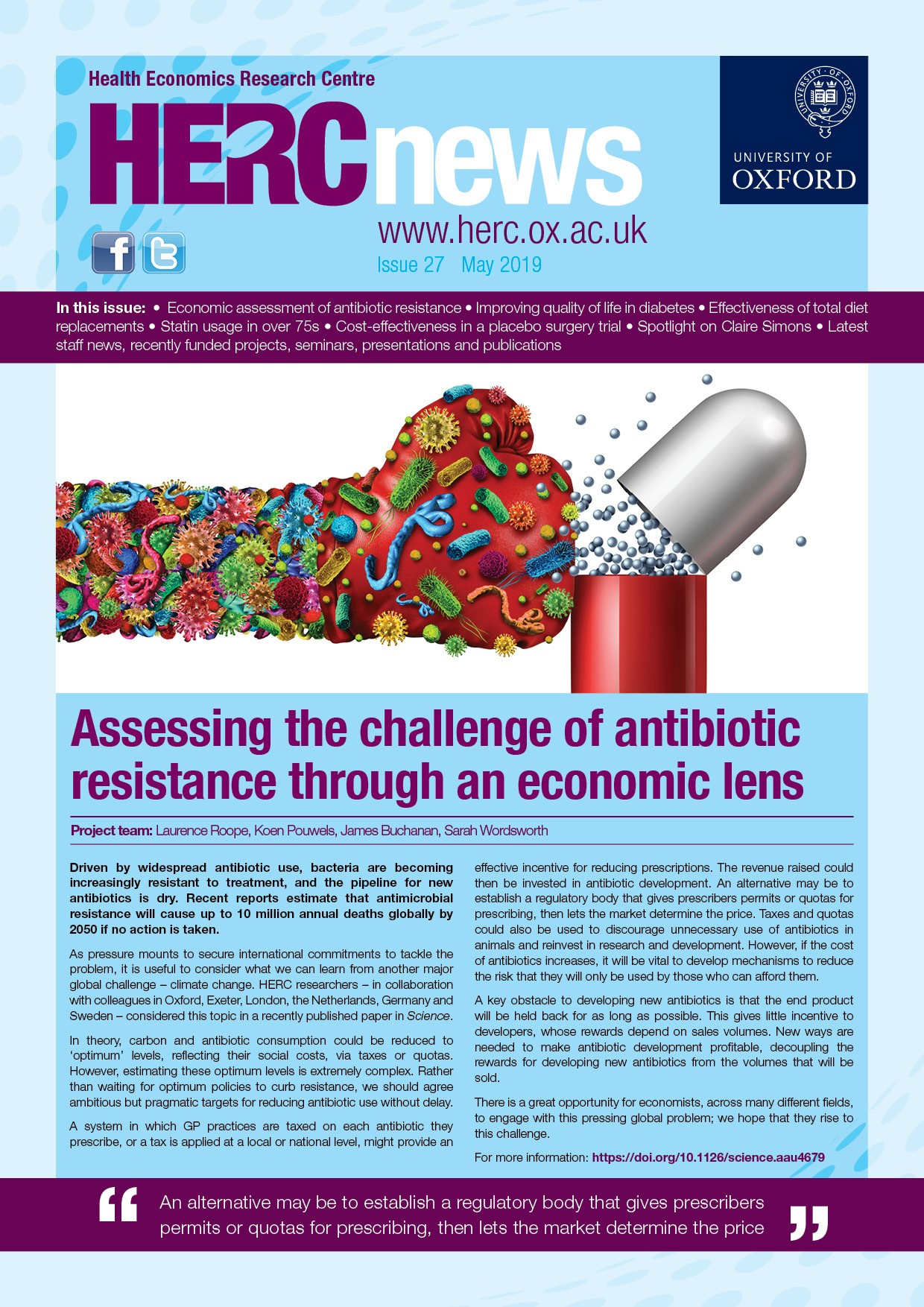 Front Cover - HERC Newsletter Issue 27 May 2019
