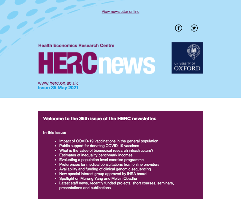 HERC Newsletter - Issue 35 - May 2021