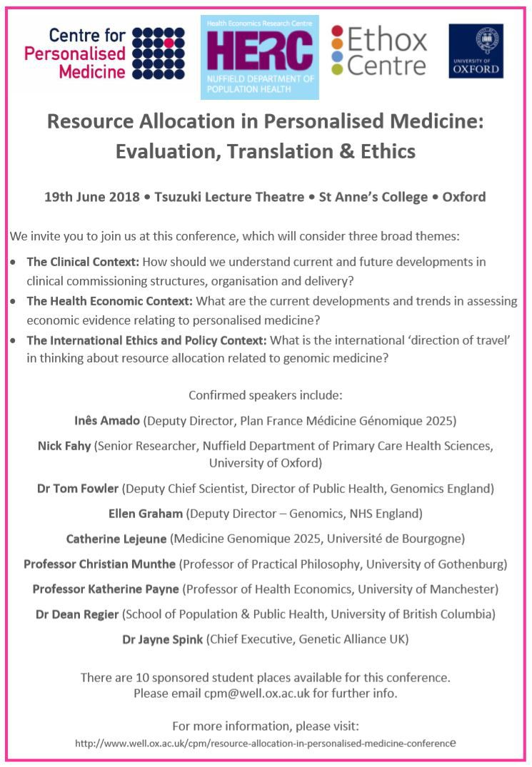 Resource Allocation in Personalised Medicine: Evaluation, Translation & Ethics